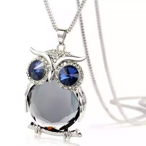 Jeweled Owl Necklace